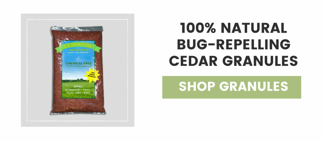 100% Natural Bug-Repelling Cedar Granules
